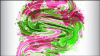 La deslumbrante patr¨®n de pintura pigmentos 02 - vector de material
