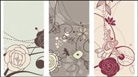 Mode schönen Vogel Blumen Vektor Material -1