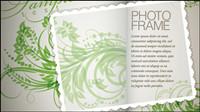 Plantez des fleurs et des mod��les de texte dans le mat��riel vecteur de fond