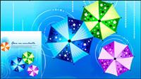 Fashion gedruckten Schirme Design-Hintergrund Vektor Material -2