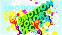 Colorful mat��riau affiches format vectoriel