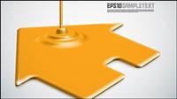 Pintura de goteo forma de diseño de fondo -3 vector de material