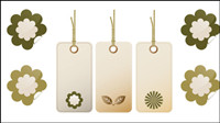 Bookmark motif fin - Vector