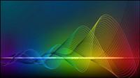 Bright ligne de flux dynamique 01 - mat��riel vecteur