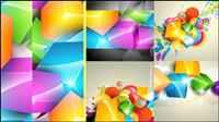 Wunderschöne Farbw��rfel Hintergrund Vektor Material