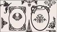 Europ��enne mat��riels motif de fond 02 - mat��riel vecteur