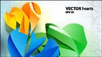 Wunderschöne dreidimensionale Hintergrund Vektor Material -4