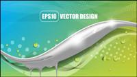 Hermoso fondo de colores 04 - vector de material