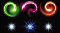 Wunderschöne helle Lichteffekte 06 - Vektor Material