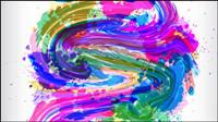 Derri��re le motif de pigments de peinture 01 - Vector
