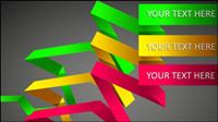 Belle couleur de la typographie du mat��riel 01 - Vector