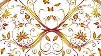 Blume und Schmetterling Muster Hintergrund Vektor-Material