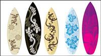 Vecteur mat��riel de planche de surf motif