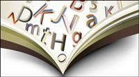 Livres et mat��riel lettres 02 - vecteur