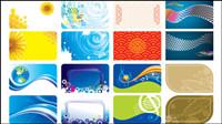 Herrliche Farbe card template - Vektor