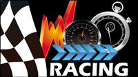Racing Theme Hintergrundmuster 05 - Vektor