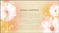 Traum Blume Text-Vorlage Vektor Material -4