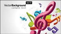 Tenga en cuenta el tema de vectores material musical -2
