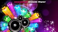 Brilliant dynamische Musik Elemente 05 - Vektor