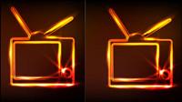 El resplandor de televisi¨®n vector de material