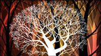 Fond la silhouette des arbres 02 - vecteur
