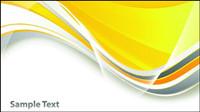Leuchtend gelbe Linie Textfeld Vektor -1