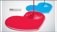 Farbe Tropf Form Design Hintergrund Vektor Material -2