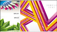 The colorful geometric arrangement of the pattern background vector material