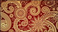 Exquisite klassischen Muster Vektor Material -3