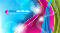 Beautifully colorful background 03 - vector