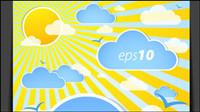Wetter-Effekte-Karte 01 - Vektor
