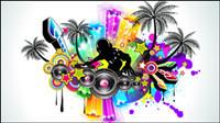 Brillantes elementos din¨¢micos musicales 03 - vectoriales