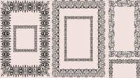 Europ��enne motif cadre 01 - Vector