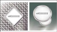 Metallic-Rahmen Vektor Material -2