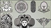 Coins d��licat motif 03 - vecteur