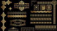 Gold gorgeous classic lace vector -1