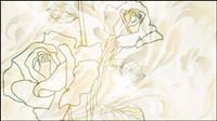 Elegante Rosenmuster Hintergrund 02 - Vektor