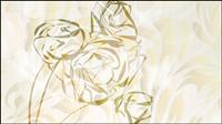 Elegante Rosenmuster Hintergrund 01 - Vektor