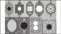 Coins d��licat motif - vecteur