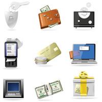 Commercial icône financiers - mat��riel vecteur