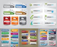 Web Design-Elemente Vektor Material