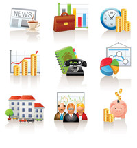 Commercial and financial icon vector material -1