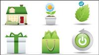 Icono verde de 01 - Vector