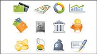 Comercial y financiero icono material de vectores -2