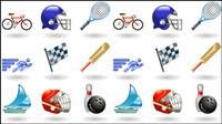 Sport li��s icônes 01 - Vector
