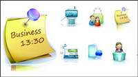 Business exquisite 3D-Vektor Material -2