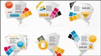 Innovantes en trois dimensions des icônes en origami 01 - Vector