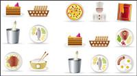 Restaurant de cuisine icône 01 - vecteur