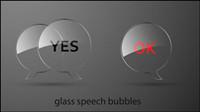 Glass Textur Schaltfläche Vektor-Material