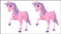 Mignon de bande dessin��e poney 01 - vecteur